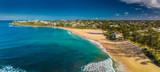 Aerial panoramic images of Dicky Beach, Caloundra, Australia - 207719945