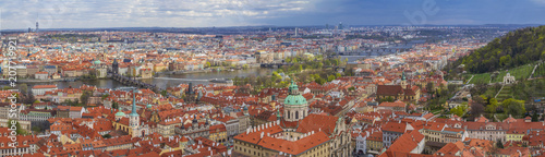 View of Prague from St. Vitus Cathedral, Prague, Czech Republic - 207719921