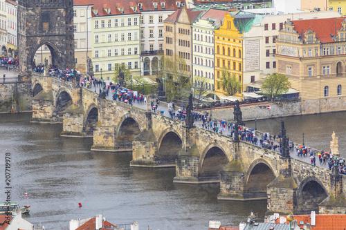 Fotobehang Bruggen Charles Bridge, Prague, Czech Republic