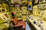 Moscow, Russia - May 04, 2018: Interior of Russian Soviet submarine in museum of naval forces - 207720104