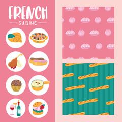 French cuisine. Vector illustration. © katedemian