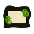 zombie hands with board - 207725156