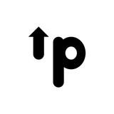 Tipografia up espacio negativo en color negro - 207726905