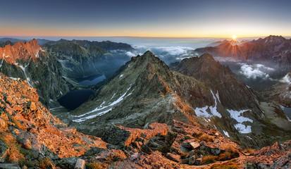 Sunset on mountain, Tatras © TTstudio