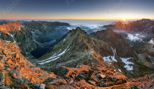 Zachód słońca w górach, Tatry