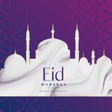 eid festival mosque design background - 207729915