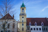 Old Town Hall and Jesuit Church in historic part of Bratislava city, Slovakia