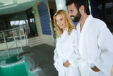 Portrait of attractive couple in spa center - 207733905