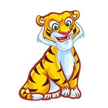 Tiger Mascot Design  Sticker
