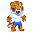 Tiger Mascot Design Vector