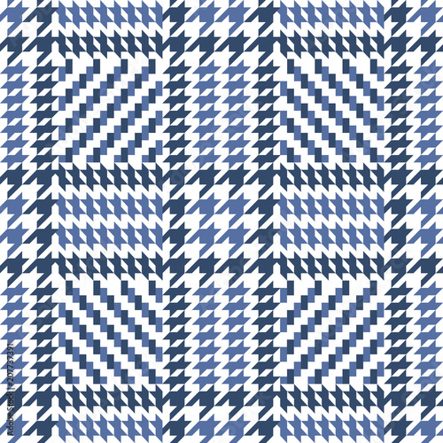 Check Blue Fashion Seamless Pattern