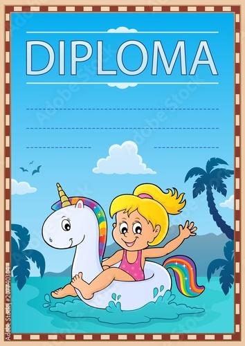Canvas Voor kinderen Diploma template image 4