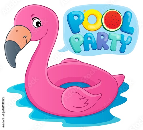 Canvas Voor kinderen Pool party theme image 5