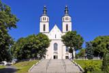 Piatnica, Poland - the Transfiguration parish church in the town center of Piatnica, Lomza region, in north-eastern Poland