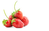 Strawberries isolated on a white background. Fresh ripe strawberries on white - 207742179