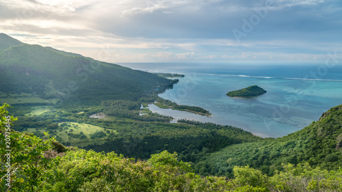 Fotobehang Landschappen Le Morne Brabant, Mauritius
