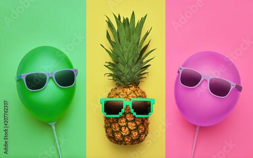 ananas-balon-powietrzny-summer-minimal-fun