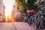 sunset on the streets and canals of Amsterdam - 207764123