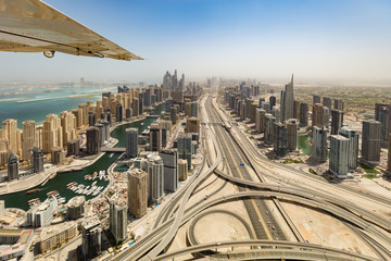 Aerial view of Dubai Marina downtown © Jag_cz