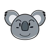 koala animal expression in cartoon