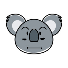 koala animal expression in cartoon © herawan