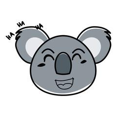 koala animal expression in cartoon © herawan