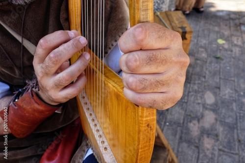 lyre medieval musical instrument - 207800540