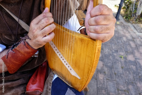 lyre medieval musical instrument - 207800554
