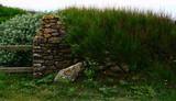 muret,poteau en pierre naturelle pour barrière - 207810983