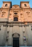 Leszno - kościół pw. św. Mikołaja. Barokowa fasada.