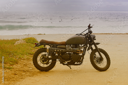 The motorcycle is beautiful and transportation