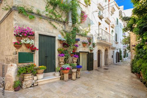 Scenic sight in Monopoli, Bari Province, Apulia, southern Italy.