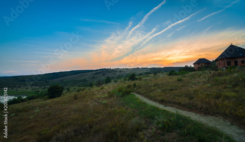 Fotobehang Lente Mountains during sunset. Beautiful natural landscape in the summer time.