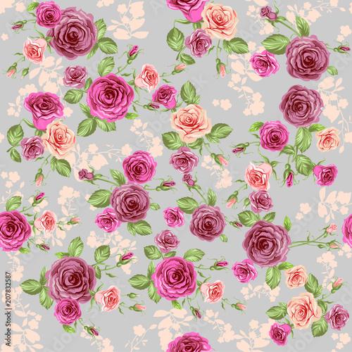 Vintage Floral Pattern - 207832587