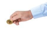 Bitcoin in hand - 207836758