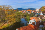 Cesky Krumlov cityscape in Czech Republic - 207836787