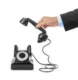 Hand and vintage telephone - 207836797