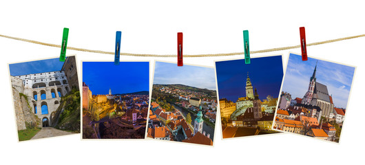 Cesky Krumlov in Czech republic images (my photos) on clothespins