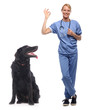 Doctor with a pet