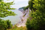 view of the chalk cliffs of Jasmund National Park, Ruegen, Germany - 207854190