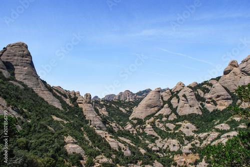 Canvas Blauwe hemel Montserrat 11