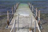 Passaggio in legno nel mare - 207867715