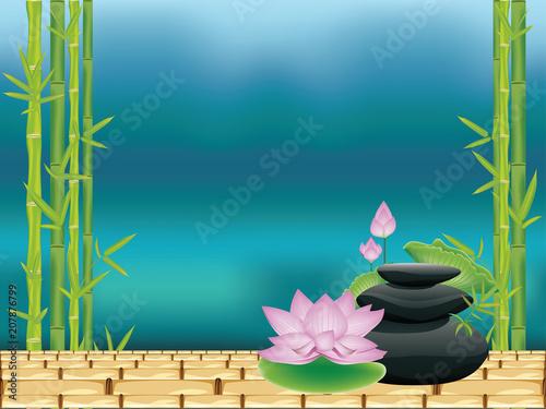 Zen stones with lotus