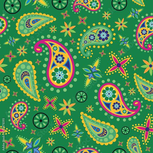 Cotton fabric Beautiful Pattern with paisley design