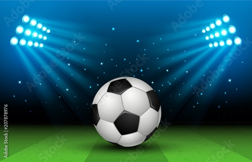 Soccer Stadium. Football Arena