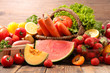 assorted fruit and vegetable - 207882364