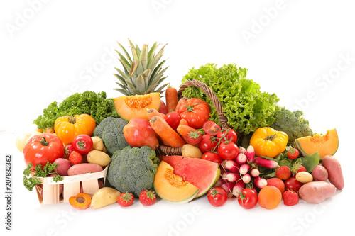 Leinwanddruck Bild assorted fruit and vegetable