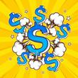pop art money, vector illustration. - 207883391
