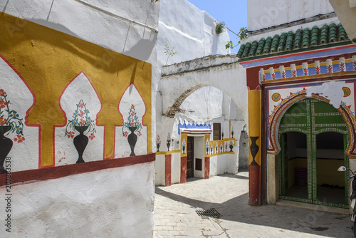Fotobehang Marokko View of the entrance of a mosque in Tetouan, Morocco