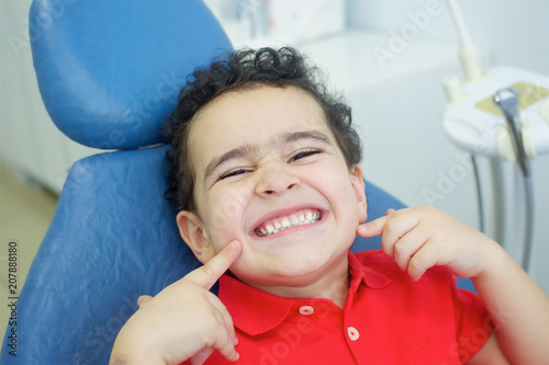 Playing dentist in the dental office. - 207888180